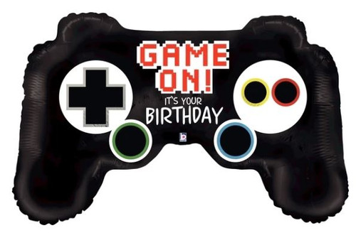 Game on - game controller mylar balloon