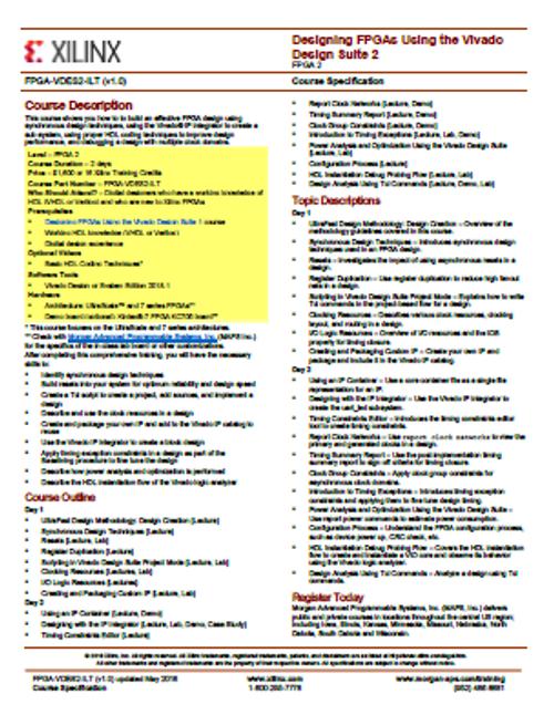 Please see https://morgan-aps.com/trainingpdf/FPGA-VDES2.pdf for a complete course description.