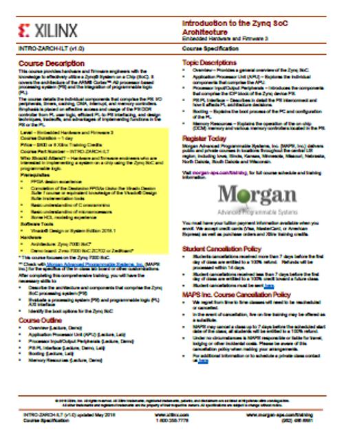 Please see https://morgan-aps.com/trainingpdf/INTRO-ZARCH.pdf for a complete course description.