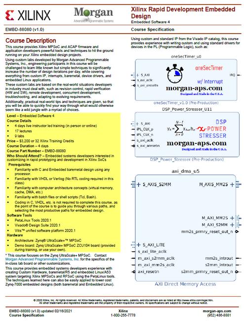 Please see https://morgan-aps.com/trainingpdf/EMBD-88080.pdf for a complete course description.