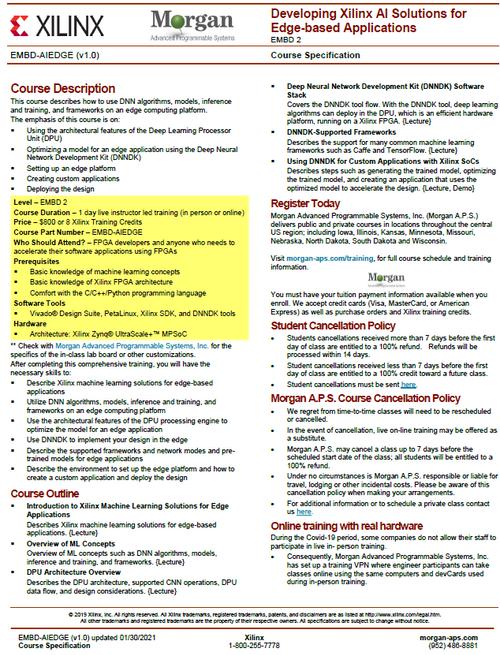 Please see https://morgan-aps.com/trainingpdf/EMBD-AIEDGE.pdf for a complete course description.