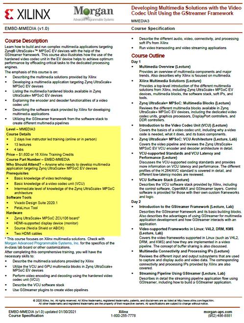 Please see https://morgan-aps.com/trainingpdf/EMBD-MMEDIA.pdf for a complete course description.