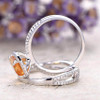 cirtine engagement ring and  curved loop wedding band 02