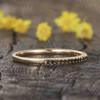 black diamond wedding band yellow gold
