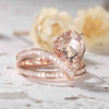 Unique pear shaped morganite engagement ring 05