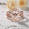 Unique pear shaped morganite engagement ring 04
