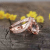 Unique pear shaped morganite engagement ring 01