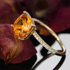 cushion cut 1.65ct citrine ring 1