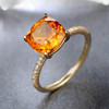 cushion cut 1.65ct citrine ring 2
