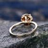 Yellow Citrine engagement ring-Solid 14k Yellow gold 013