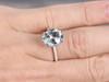 Oval Aquamarine Engagement Ring