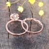 Round Morganite Wedding Set