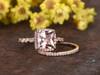 Morganite Bridal Set