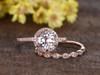 Morganite Rose Gold Wedding Set