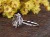 5 Carat Large White Topaz Engagement Ring