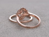 morganite wedding set
