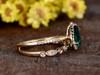 Emerald Cut Bridal Set-BBBGEM 1 CT Emerald Rings For Women