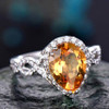 6x9mm citrine birthstone promise ring for her 03