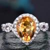 6x9mm citrine birthstone promise ring for her 0