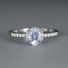 Oval cut Moonstone engagement ring Women