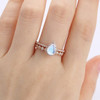Simple Pear Shaped Moonstone Engagement Ring Vintage -HRa015