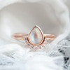 Moonstone engagement ring Rose Gold Rose quartz