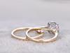 Yellow Gold Moissanite Ring Set-BBBGEM Moissanite Wedding Ring Sets