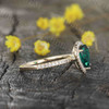 Pear Shaped Emerald Engagement Ring