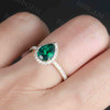 Emerald Engagement Ring Rose Gold