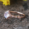 Dreamy Blue Moonstone Engagement Ring Rose gold 02