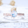 Dreamy Blue Moonstone Engagement Ring Rose gold 03