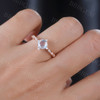 Dreamy Blue Moonstone Engagement Ring Rose gold 04