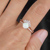 Antique Opal Engagement Ring Set Rose Gold 11
