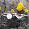 Antique Opal Engagement Ring Set Rose Gold 09