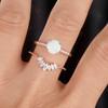 Antique Opal Engagement Ring Set Rose Gold 06