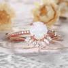 Antique Opal Engagement Ring Set Rose Gold 05