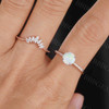Antique Opal Engagement Ring Set Rose Gold 04