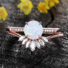 Antique Opal Engagement Ring Set Rose Gold 02