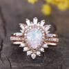 vintage opal engagement ring set