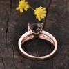 Solitaire Morganite Engagement Ring Split Shank 04