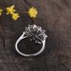 Vintage Natural Emerald Engagement Ring Floral 03