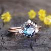 Three Stone Alexandrite Engagement Bridal Set-BBBGEM Alexandrite Ring