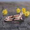 Vintage Alexandrite engagement ring set three stone 0