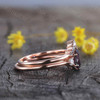 Rose Gold Alexandrite Engagement Ring-BBBGEM Alexandrite Ring