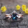 Vintage Alexandrite engagement ring set three stone