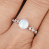 Classic Opal Engagement Ring 06