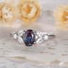 Art Deco Verbena Alexandrite Moissanite Engagement Ring Marquise Antique