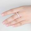 14K/18K Dora Opal Diamond Wedding Band Rose Gold