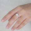 Art Deco Verbena Opal Moissanite Diamond Engagement Ring Marquise Antique