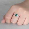 vintage lab emerald enaggeemnt ring